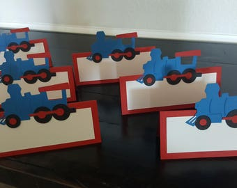 Choo Choo Train Food Place Cards