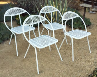salterini outdoor furniture. set of 4 salterini by rid jid folding hoop chairs outdoor furniture