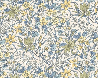 Fabric -Liberty  - The English Garden - Ricardo, blue - Quilters weight cotton