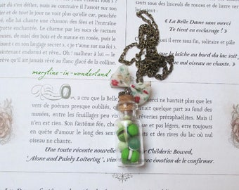 delicious green macaroons vial necklace
