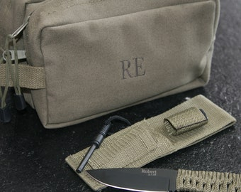 groomsman gift, personalized knife, personalized dopp kit, mans gift, dads gift, fathers day gift, mens gift, survival knife  dk9126k