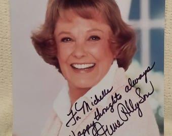 Authentic Genuine~JUNE ALLYSON Hand Signed Autograph Color 8X10