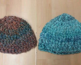 Soft fuzzy winter hats