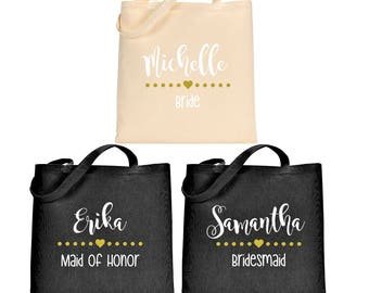 Bridesmaid Tote Bag / Bridesmaid Gift / Bridesmaid Bag / Maid of Honor Tote Bag / Maid of Honor Gift / Maid of Honor Bag