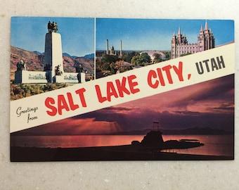 Vintage Postcard Greetings from Salt Lake City Utah