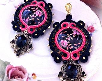 Soutache Earrings, Handmade Earrings, Soutache Jewelry, Handmade from Italy