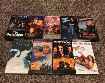 Patrick Swayze VHS lot - 9 Total