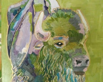 Bison in Green