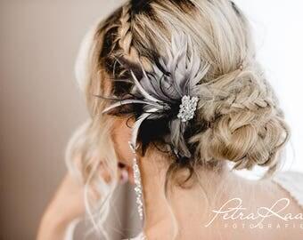 N32 Bridal Veil, wedding hairstyles, Bohos, bridal hairstyles, hair ornaments, comb, bridal headpieces, Fascination, vintage, ivory