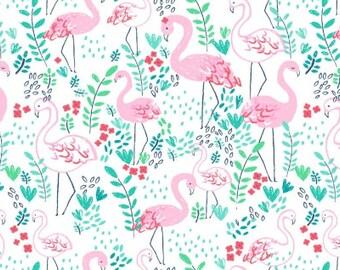 Life's A Beach - Let's Flamingle White - Dear Stella (Stella-951-White)