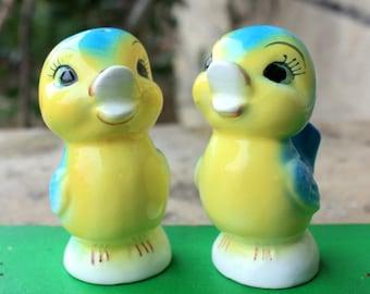 Vintage Blue Birds Salt & Pepper Shakers Japan 1950's Norcrest Lefton Napco Anthropomorphic Figurines Collectibles Decorations