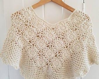 Vintage Lace Shawl - Intermediate Crochet Pattern
