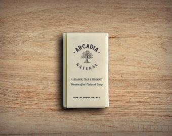 Cardamom, Teak & Bergamot Soap, Cold Process Soap, Moisturizing body soap, Natural Soap, Vegan Soap, Handcrafted Soap Bar