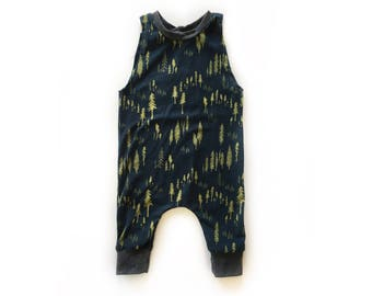 Evergreen Tree Romper, Jumper, Playsuit for babies and toddlers, boys and girls