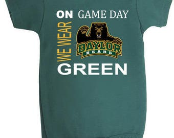 Baylor Bears On Game Day Baby Bodysuit