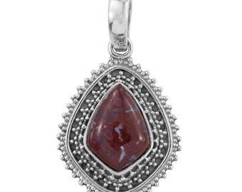 Redlighting Jasper Sterling Silver Pendant without Chain TGW 5.10 cts.