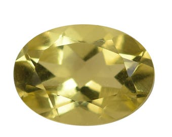 Green Gold Quartz Triplet Oval Cut Loose Gemstone 1A Quality 7x5mm TGW 0.60 cts.