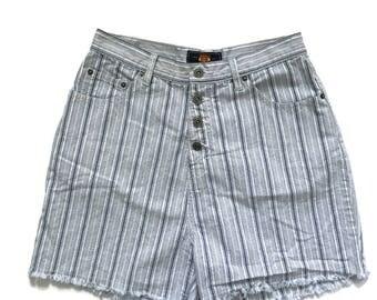 Striped jean shorts | Etsy