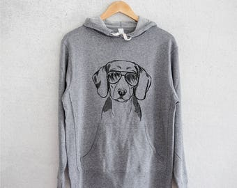 Ziggie the Italian Greyhound/Whippet - Grey French Terry - Unisex Slim Fit