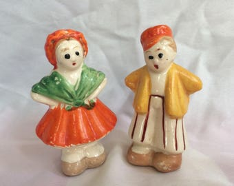 1940's Boy and Girl Salt and Pepper shakers