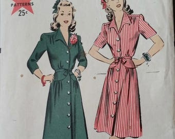 "40% OFF 1940s Hollywood Patterns for Classic Dress Size 16 - 34"" Bust"