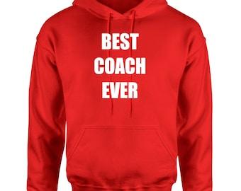 Custom Hoodie, Personalized hoodie,  best coach ever hoodie, Sports team hoodie