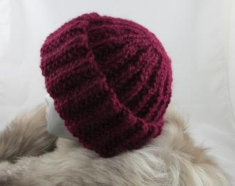 Maroon Alpaca Hat