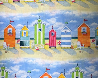Fabric with beach houses
