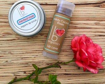 Galentine's Day Special!  //  Love Your Lips Gift Set // organic lip scrub + lip balm