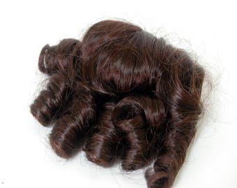Kemper Doll Wig Amanda 7-8 Dark Brown Sausage Curls