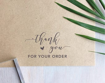 Thank You For Your Order Stamp | Thank You Stamp - Business Stamp - Packaging - Custom Stamp
