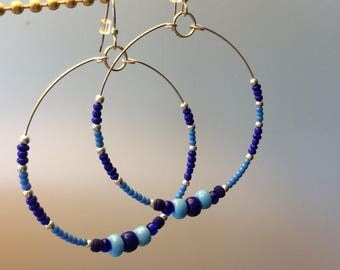 The Great Wide Open Hoops in Shades of Blue
