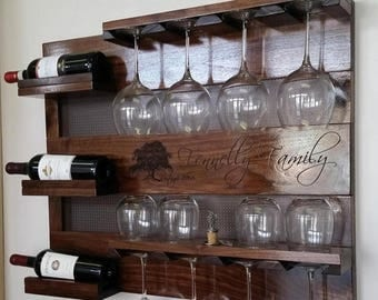 on sale 15 off walnut wood wall mounted wine rack with your laser engraved - Wine Racks For Sale