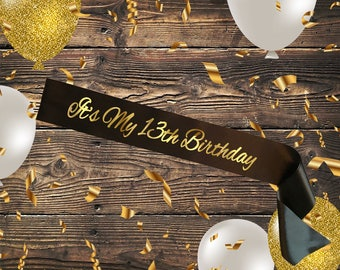 BLACK SASH It's My 13th Birthday
