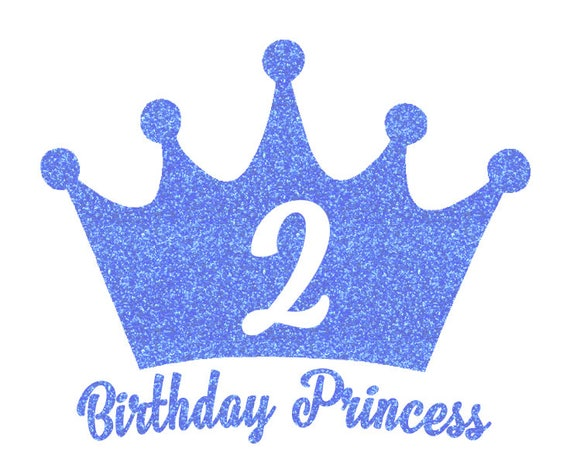 Items Similar To Birthday Princess Crown Iron On Decal On Etsy