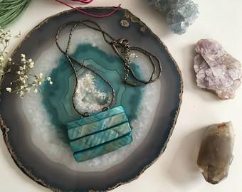 Mermaid Aqua Layered Necklace