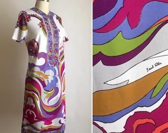 60s Saul Villa Galerie dress M ~ vintage Italian mod shift dress