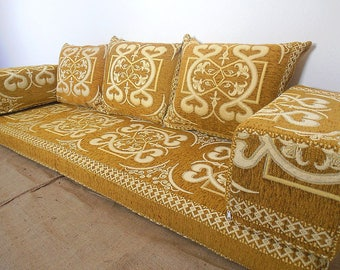 Oriental Floor Seating, Arabic Style Majlis Floor Sofa Set, Floor Couch,  Floor Seating