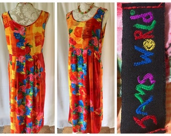 1990's funky floral dress by Jams World | Small | Style #W334
