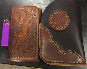Leather wallet holster