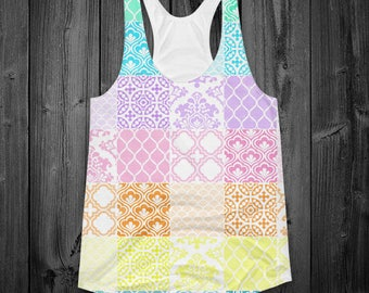 Pastel Mosaic Tiles Tank Top (Two Sided)