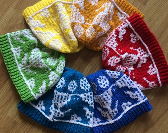 Elusive Bigfoot Handmade Knit Hats - Beanies Available In Assorted Colors - Rainbow Toque
