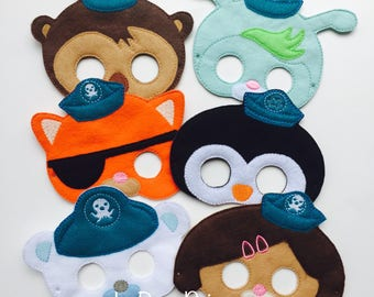 Sea Friends Inspired Child Masks