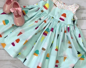Ice cream cones with sprinkles infant girls dress size 12 months