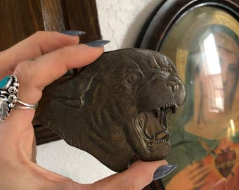 Metal Panther Belt Buckle