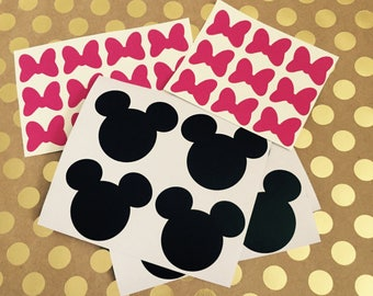 Minnie Mouse Vinyl Stickers • Party Decorations