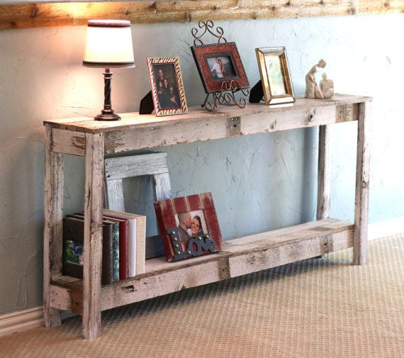 Rustic Sofa Tables For Sale: Rustic Sofa Table In Farmhouse White