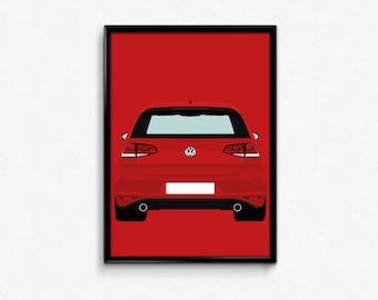 Mk7 Volkswagen Golf GTI A3 Print