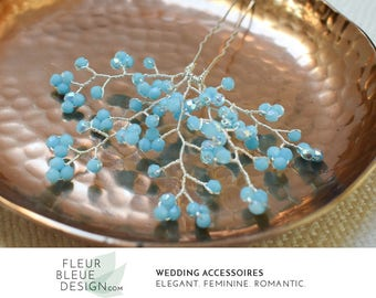 hair accessory | hair piece | wedding headpiece | bridal hair | wedding hair accessory | hair adornment | hairpin turquoise