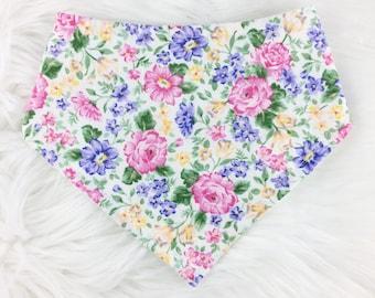 Bouquet Bib, Bandana Bib, Baby Bib